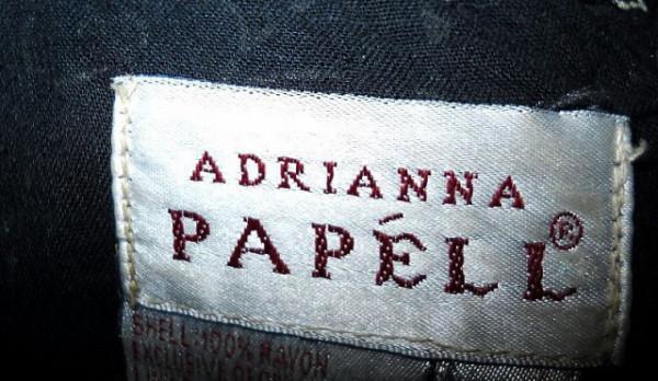 "Rochie retro ""Adrianna Papell"" print pictat anii '80"