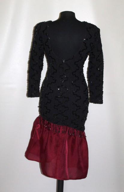 Rochie retro de ocazie stil flamenco anii '80
