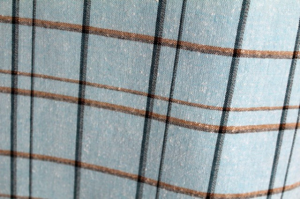 Rochie vintage carouri pe fond bleu anii 70