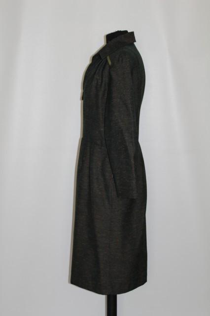 Rochie vintage din stofa verde muschi anii '50