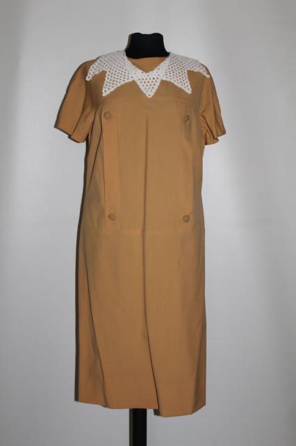 Rochie vintage galben muștar anii 60