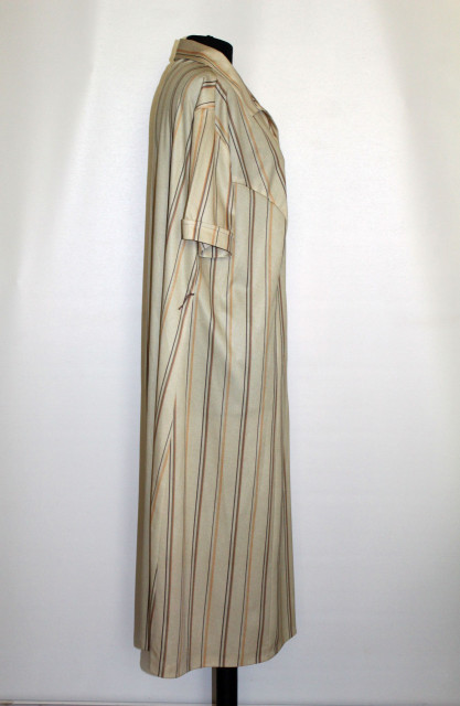 Rochie vintage galben vanilie cu dungi verticale anii '70