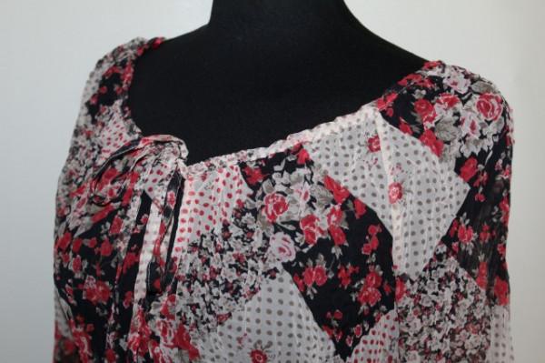 Bluză din voal gofrat anii 90
