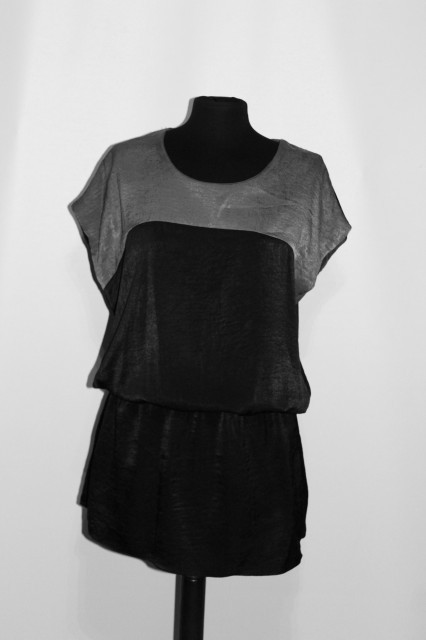 Bluza gri cu negru repro anii '80