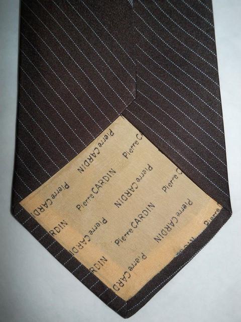 "Cravata vintage maro cu bleu ""Pierre Cardin"" anii '60"