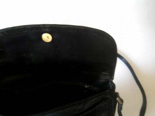 Poseta piele de sarpe neagra anii '70
