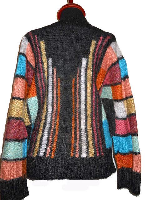 Pulover vintage din mohair cu dungi anii '70