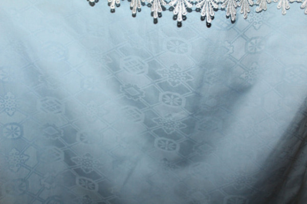 Rochie de ocazie bleu cu dantela anii '70 - '80