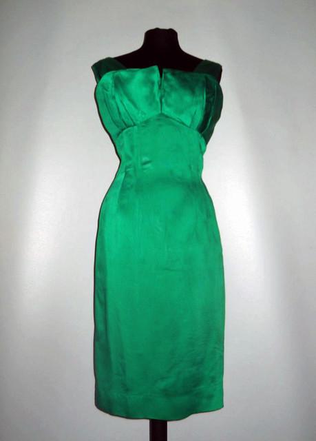 Rochie de ocazie verde smarald vintage anii '50