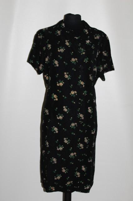 Rochie de ocazie vintage din matase naturala gofrata anii '60