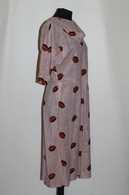 Rochie print frunze stilizate anii '70