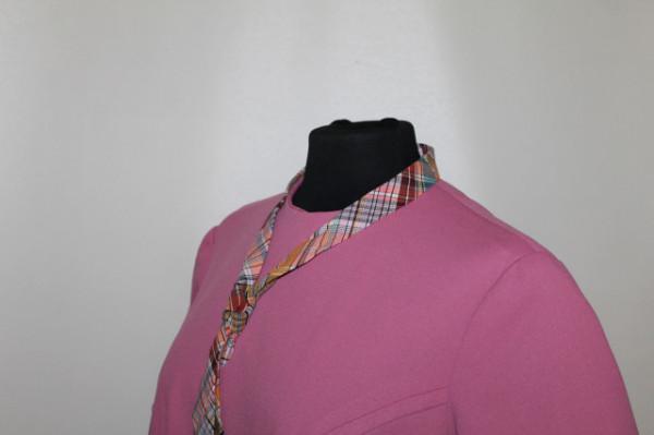 Rochie roz orhidee cu cravată anii 60