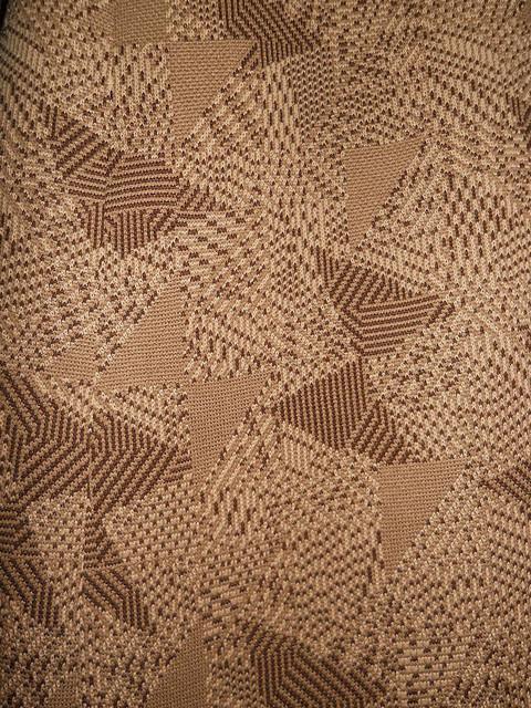 Rochie vintage  print geometric maro anii '60