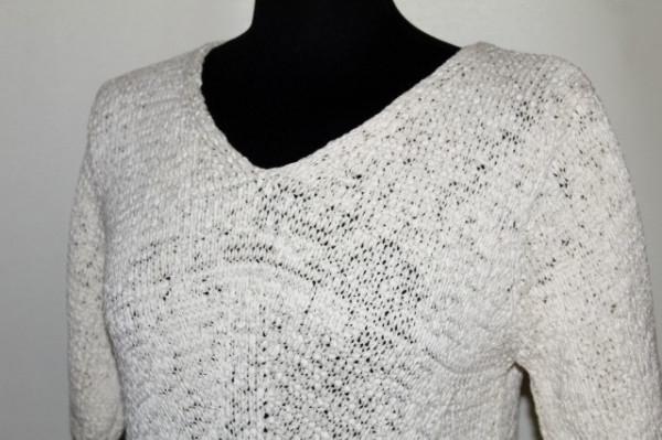 Bluza din tricot ivoire repro anii '70