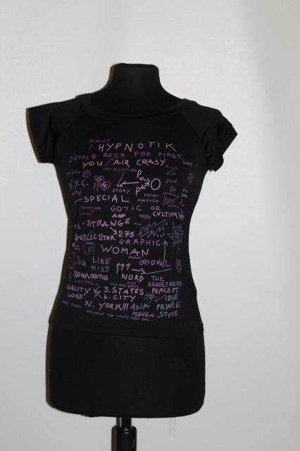 Bluza inscriptii roz anii '90