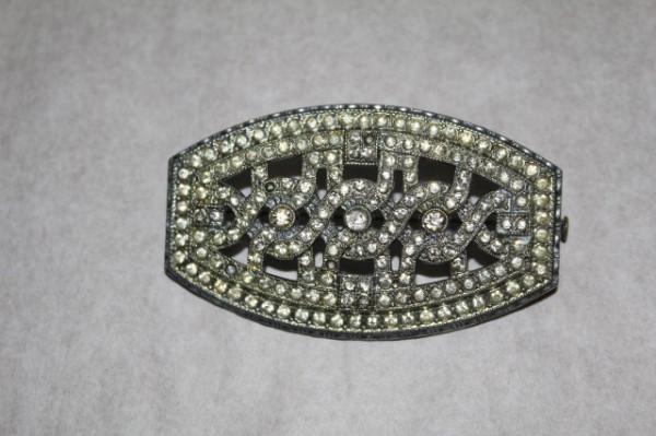 Brosa vintage masiva cristale Art Deco anii '20