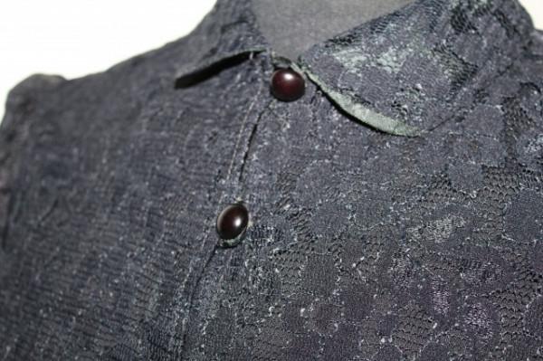 Cămașă vintage din dantelă neagră anii 60