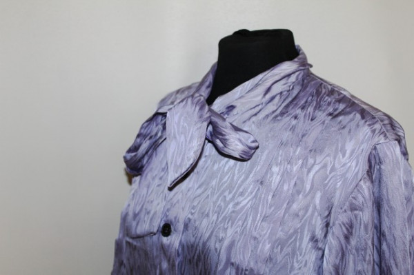 Camasa violet moarat anii '70