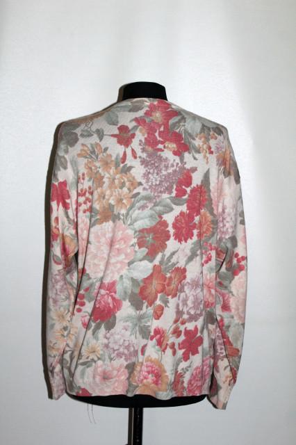Cardigan model floral anii 90