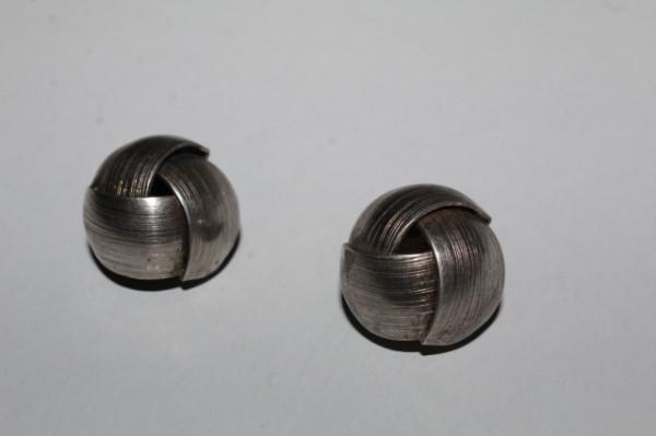 Clips argintiu împletit anii 70