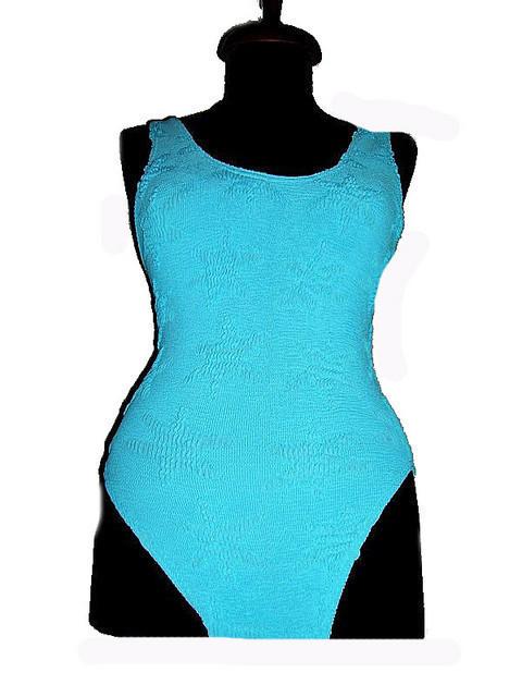 Costum de baie bleu stele de mare anii '80