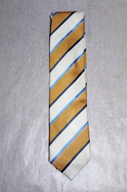 Cravata vintage stil clasic dungi galbene anii '70