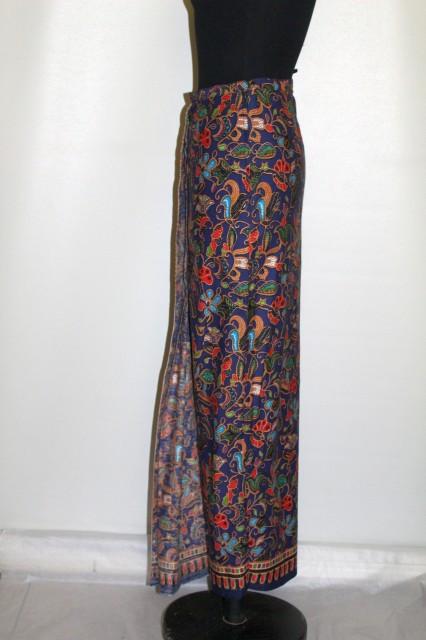 Fustă hippie print floral punctiform anii 70