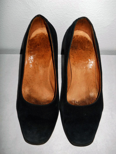 Pantofi vintage din antilopa  anii '30
