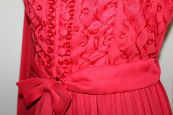 Rochie cu fustă pantalon plisată anii 70
