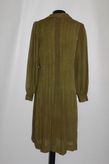 Rochie vintage din batist verde anii '50