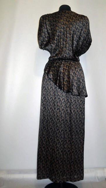 "Rochie vintage ""MaB Modell Puhane"" anii '70"