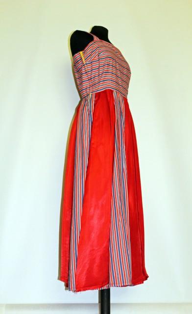 Rochie vintage maxi dungi rosii anii '60