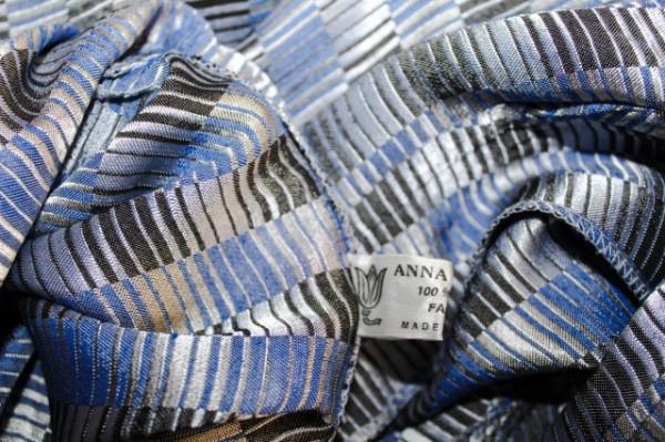 Salopeta retro carouri albastre si argintii anii '80