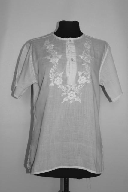 Bluză broderie florală anii 70