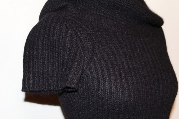 Bluza din tricot negru repro anii '70