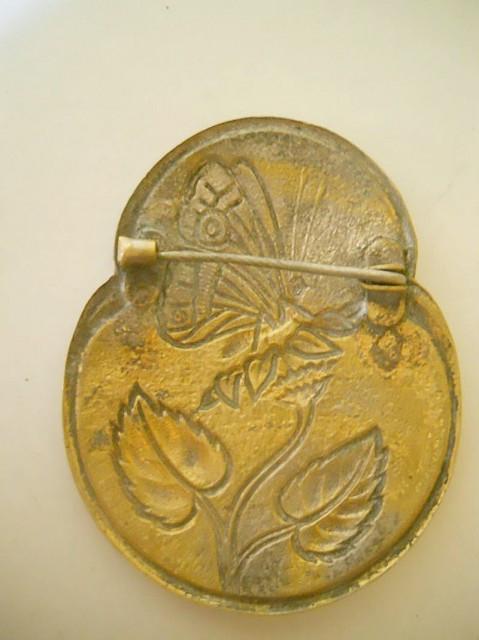 Brosa antique guilloche perioada edwardiana cca. 1910