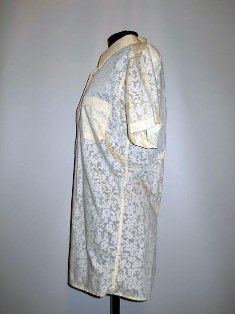 Camasa vintage model floral cu jocuri de transparente anii '60