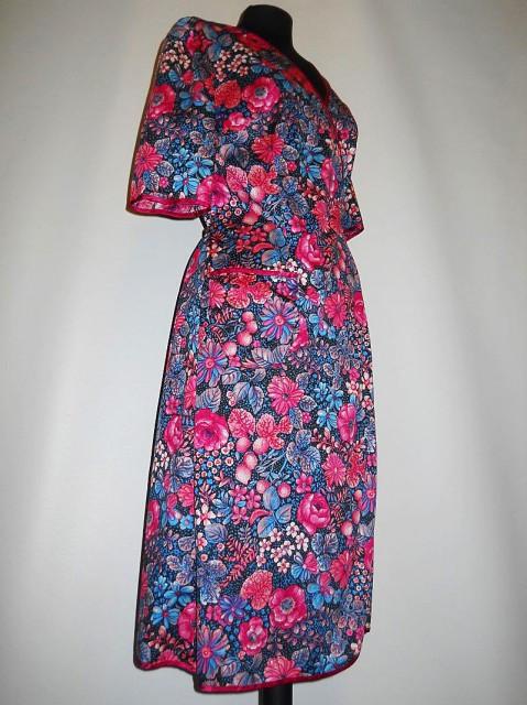 Lounge robe vintage print floral anii '70