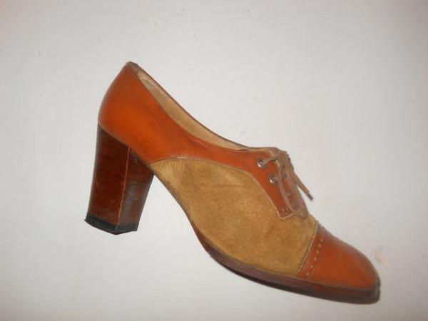 Pantofi bicolori vintage anii '40