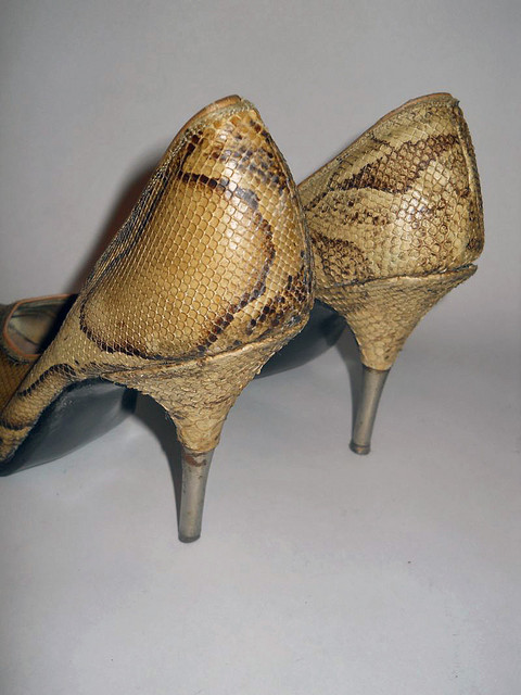 Pantofi vintage din piele de cobra anii '50