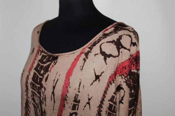 Pulover oversized print stilizat repro anii '80