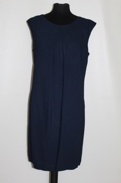 Rochie din crepe bleumarin repro anii '60