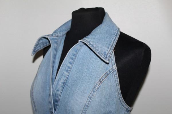 Rochie din jeans cu spatele gol anii '90