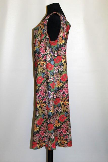 Rochie print floral multicolor anii 70