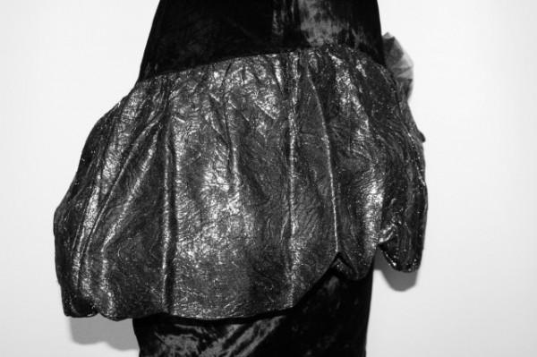 Rochie retro de ocazie din catifea si brocart anii '80