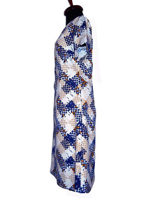 Rochie vintage mod print bleumarin anii '60