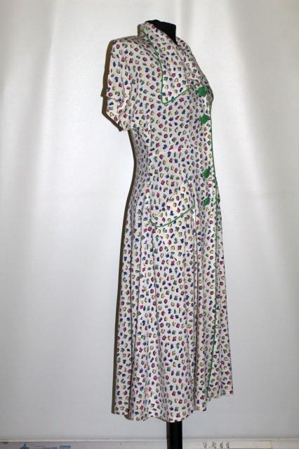 Rochie vintage print floral anii 30