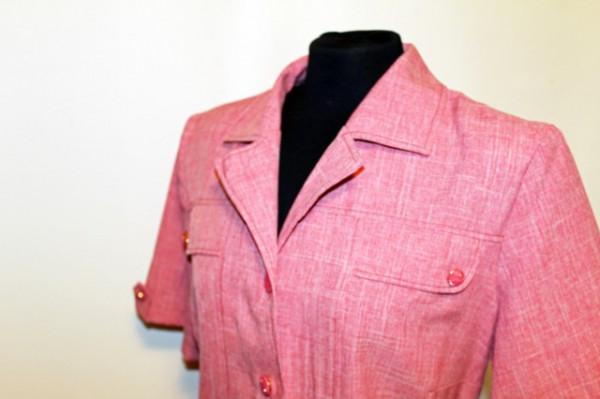 Rochie vintage roz carne anii '70