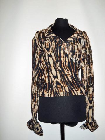 "Camasa retro animal print ""Donna di cuori"" anii '80"
