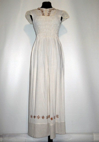 Rochie maxi broderie florala repro anii '70